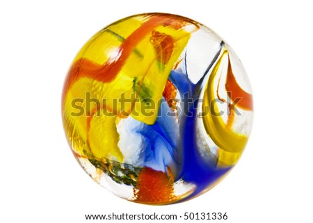 Colorful marble isolated on a white background - stock photo