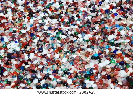 Colorful Marble Pebbles Background