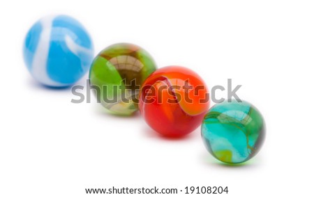colorful marbles - stock photo