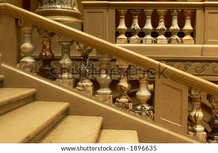 Colorful marbles and granites along the stairway. More with keyword Series002