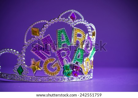 colorful Mardi Gras crown decoration - stock photo