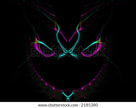 Colorful Mardi Gras, Haloween or New Years mask on black background - stock photo