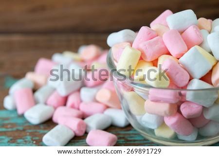 Colorful marshmallow  - stock photo
