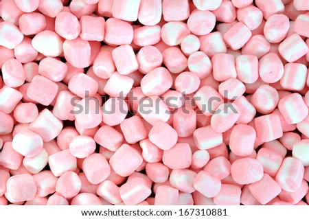 colorful marshmallows candy for background uses  - stock photo