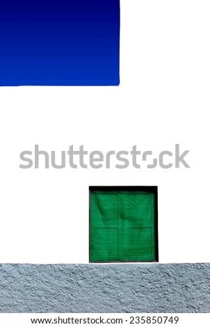 colorful mediterranean facade - stock photo