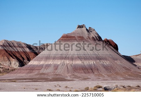 Colorful mesas in the painted desert of Arizona. - stock photo