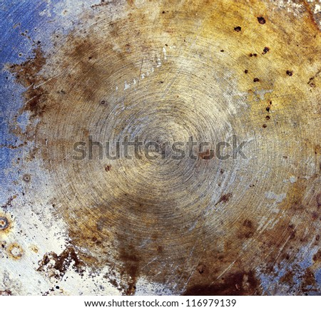 Colorful Metal Texture with Burned Oil - stock photo