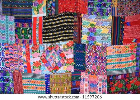 Colorful Mexican blanket. - stock photo
