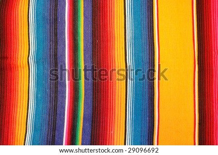 Colorful mexican poncho - stock photo