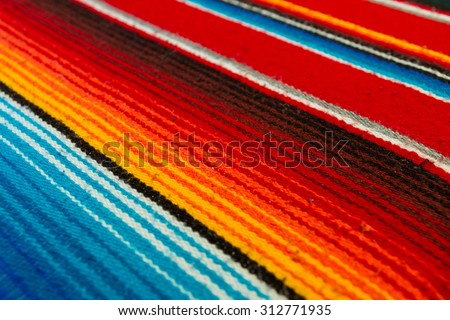 Colorful Mexican Poncho Background - stock photo