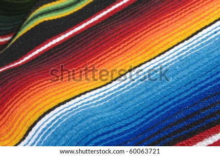Colorful mexican poncho close up texture - stock photo
