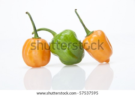 Colorful Mixed Peppers - stock photo