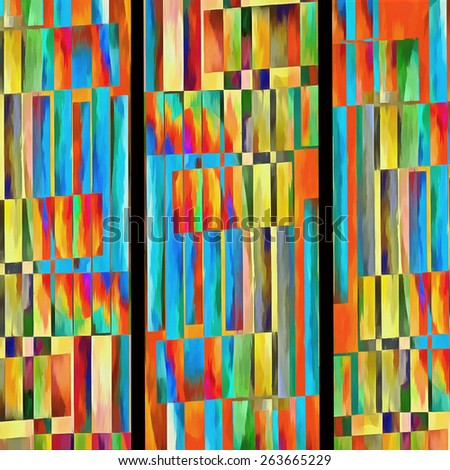 Colorful modern abstract painting background. - stock photo