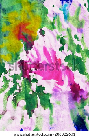 colorful modern abstract stains background artistic mixed technique
