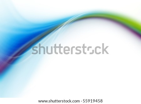 Colorful modern futuristic background with abstract waves - stock photo