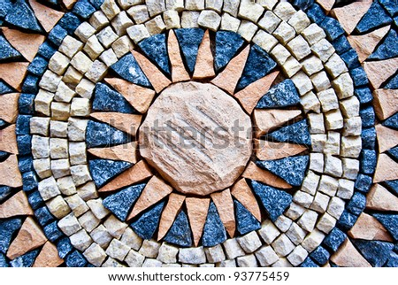 colorful moroccan mosaic as a background - stock photo