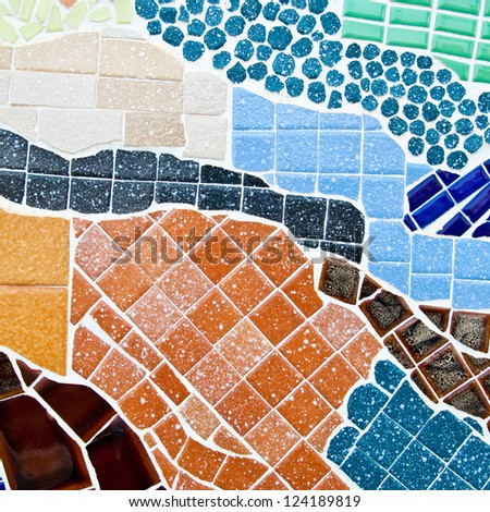 Colorful mosaic abstract for background - stock photo