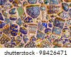 Colorful mosaic background - stock photo