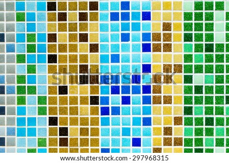 Colorful mosaic, Colored mosaic background tiles