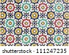 Colorful mosaic decoration in Rabat, Morocco - stock photo
