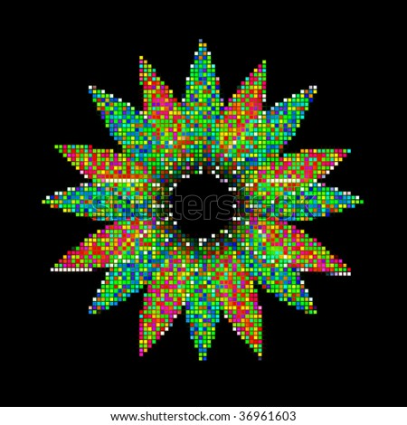 Colorful Mosaic Flower
