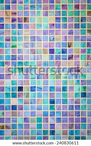 Colorful mosaic glass tile wall - stock photo