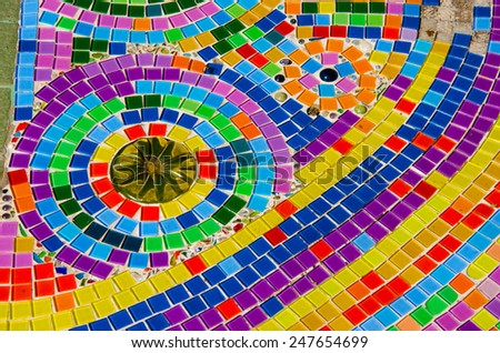 Colorful mosaic pattern for background on wall.texture mosaic tiles, texture mosaic.  - stock photo
