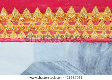 colorful mosaic pattern with marble texture at ThailandTemple - stock photo