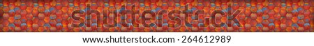 Colorful Mosaic Tiled Panoramic Background (Website Head) - stock photo