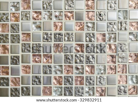 colorful mosaic tiles background - stock photo