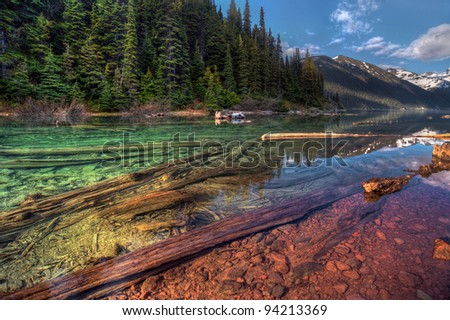 Colorful Mountain Lake in British Columbia - stock photo