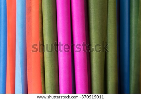 colorful mulberry paper