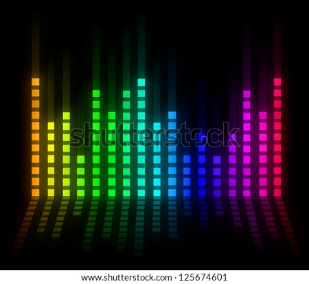 colorful musical bar
