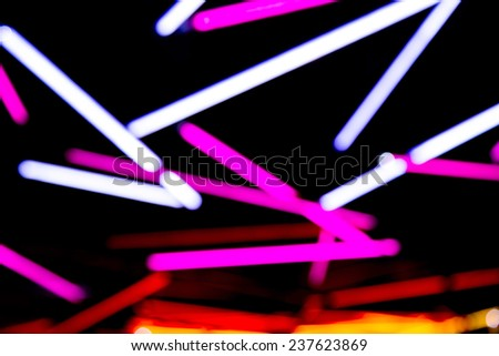 Colorful neon abstract lights  - stock photo