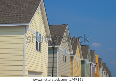 Colorful new homes - stock photo
