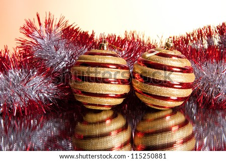 colorful New Year and Christmas decorations for the Christmas tree - stock photo