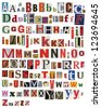 Colorful, newspaper, magazine alphabet - stock photo