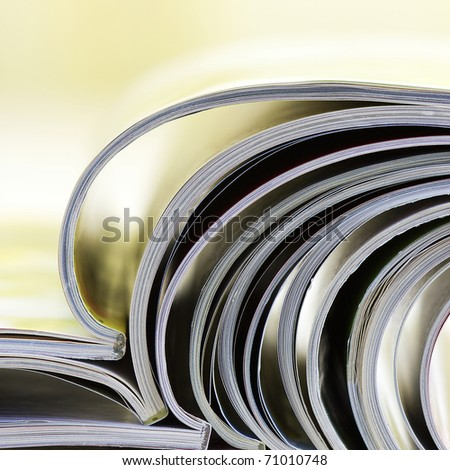 colorful newspapers - relaxing time - stock photo