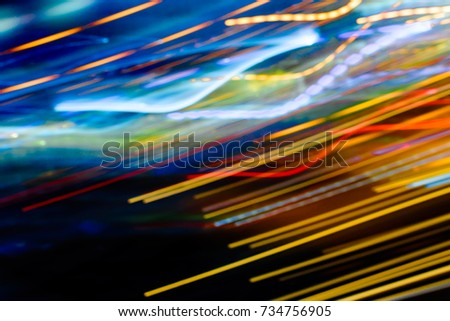 colorful night light  abstract background.Abstract image of night lights in the city with motion blur.