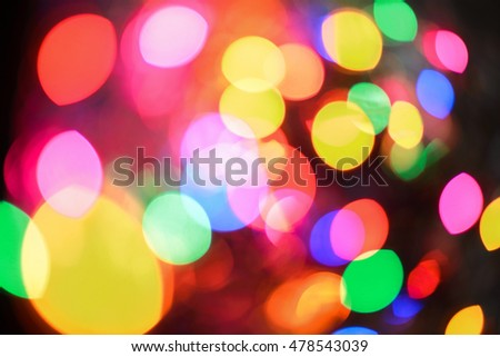 Colorful night lights highlights