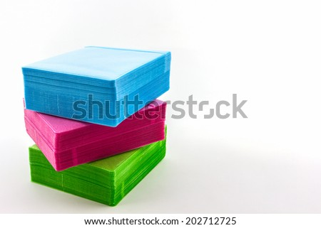 Colorful of CD paper case on white background. - stock photo