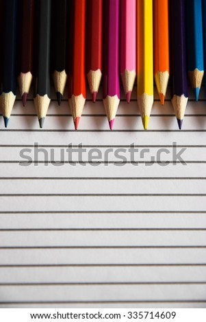colorful of colors pencil  - stock photo