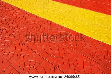 Colorful of concrete block pavement. - stock photo