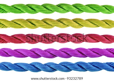 Colorful  of cotton craft thread - stock photo