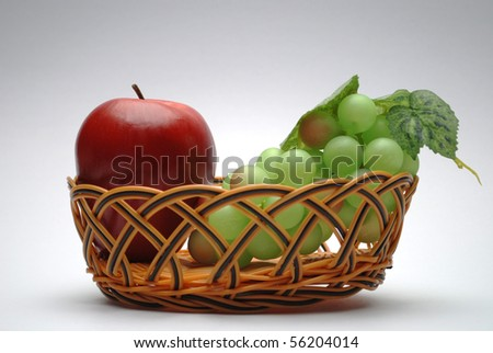 colorful of fruit in the basket.