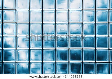 Colorful of glass blocks