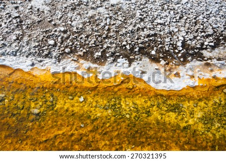 Colorful of Grand Prismatic Spring in Yellowstone National Park, Wyoming, US - stock photo
