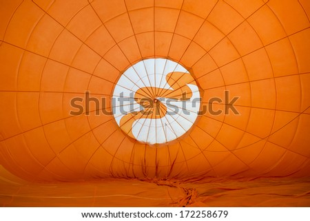 Colorful of hot air balloon inside - stock photo