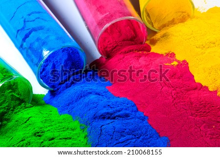 colorful of powder coating.