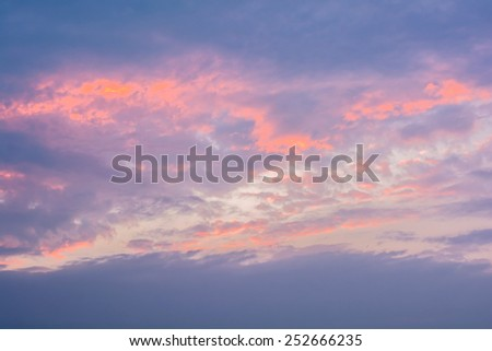 colorful of sky with clouds in the evening